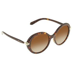 BVLGARI Serpenti Round Sunglasses Polarized Brown